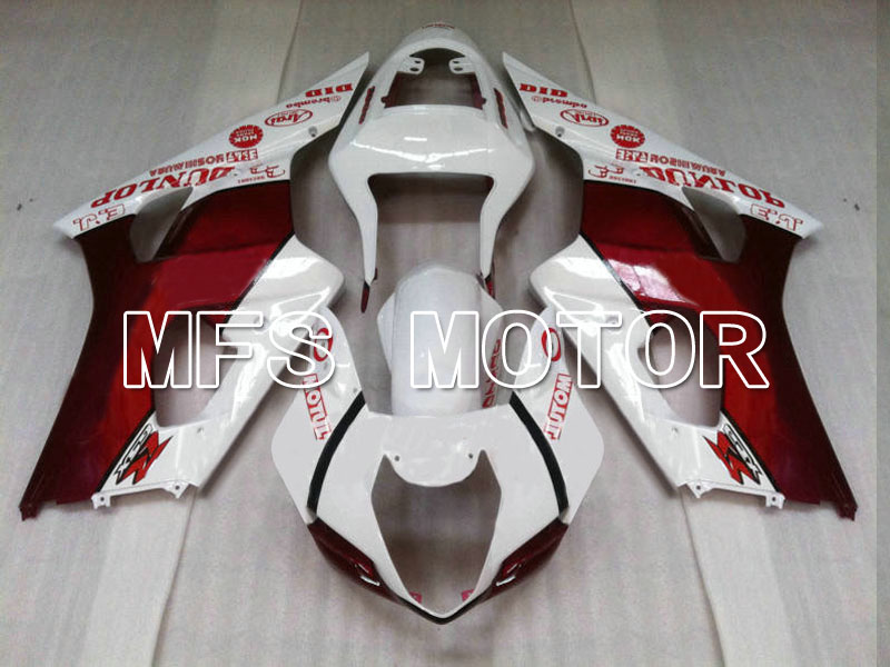 Motorcycle Part For Suzuki GSXR 1000 K3 2003 2004 Injection ABS Fairing Kits GSXR1000 K3 03 04 - Jordan - White/Red mfs motor motorcycle part front rear brake discs rotor for yamaha yzf r6 2003 2004 2005 yzfr6 03 04 05 gold