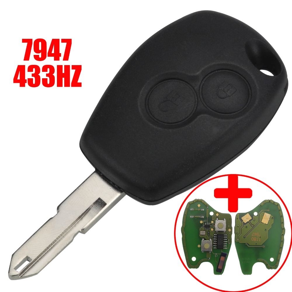 Jingyuqin дистанционного заменить ключа автомобиля чехол 433 мГц PCF7947 транспондер чип для Renault Vivaro Movano трафика мастер 2 пуговицы