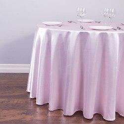 1 шт. круглая сатиновая скатерть таблица Крышка для Свадебная вечеринка Рождественская Ресторан банкетный украшения 21 Цвета 90