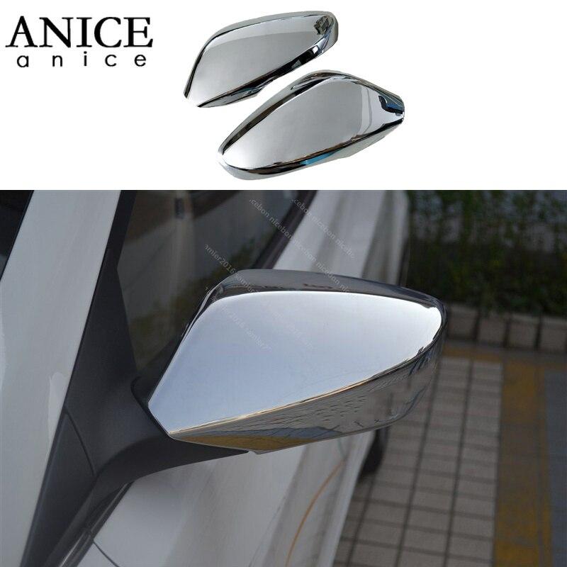 2 pièces chrome brillant ABS rétroviseur latéral couverture pour HYUNDAI Elantra 2011-2016