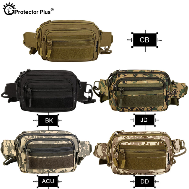 PROTECTOR PLUS Multipurpose Handbag Men Tactical Molle Messenger Bag Waterproof Military Camo Climbing Travel Waist bag Sports 4