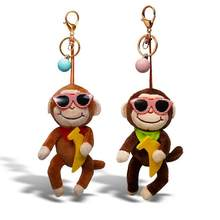 Fashionable Cute and Cool plush toy series Monkey Stuffed Animals Clip Keychain Kids Plush key rings the backpack Toys Gifts(China)