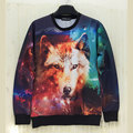 2017 Autumn New Arrival sweatshirt 3D Pullover Personality Fox Hoodies Fashion Men's  Sweatshirt