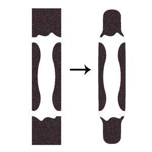Image 5 - 122*24cm Longboard papier ścierny zagęścić ograniczona poślizgu deskorolka Grip taśmy płaski talerz Griptape naklejki na ryby deska długa deska
