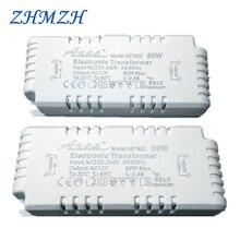 С регулируемой яркостью AC220V до 12V Электронный трансформатор 60 Вт 80 Вт 105 Вт Питание для G4/G5.3 кварцевая лампа галогенная лампа с украшением в виде кристаллов лампа, получившая сертификат Европейского соответствия
