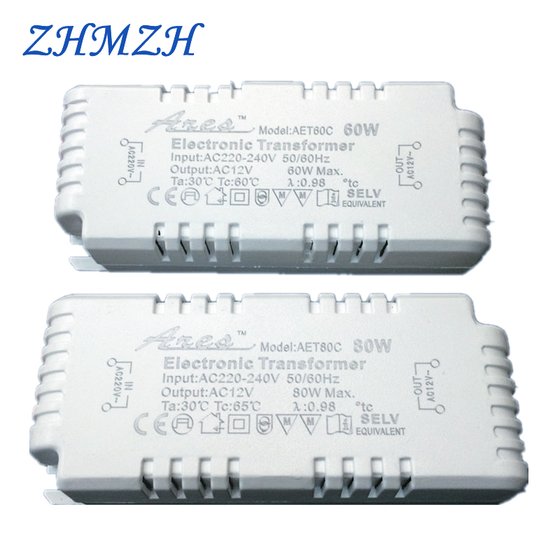 Dimmable AC220V To 12V Electronic Transformer 60W 80W 105W Power Supply For G4/G5.3 Quartz Lamp Halogen Lamp  Crystal Lamp CE
