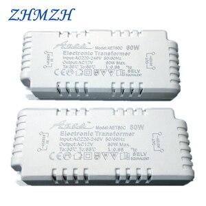 Image 1 - Transformador eletrônico regulável ac220v para 12v, 60w 80w 105w, fonte de alimentação para quartzo g4/g5.3 lâmpada de halogêneo cristal ce