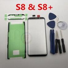 استبدال LCD الجبهة شاشة تعمل باللمس الخارجي زجاج عدسة لسامسونج غالاكسي S8 G950 G950F و S8 زائد G955 G955F S9 S9 + أدوات إصلاح