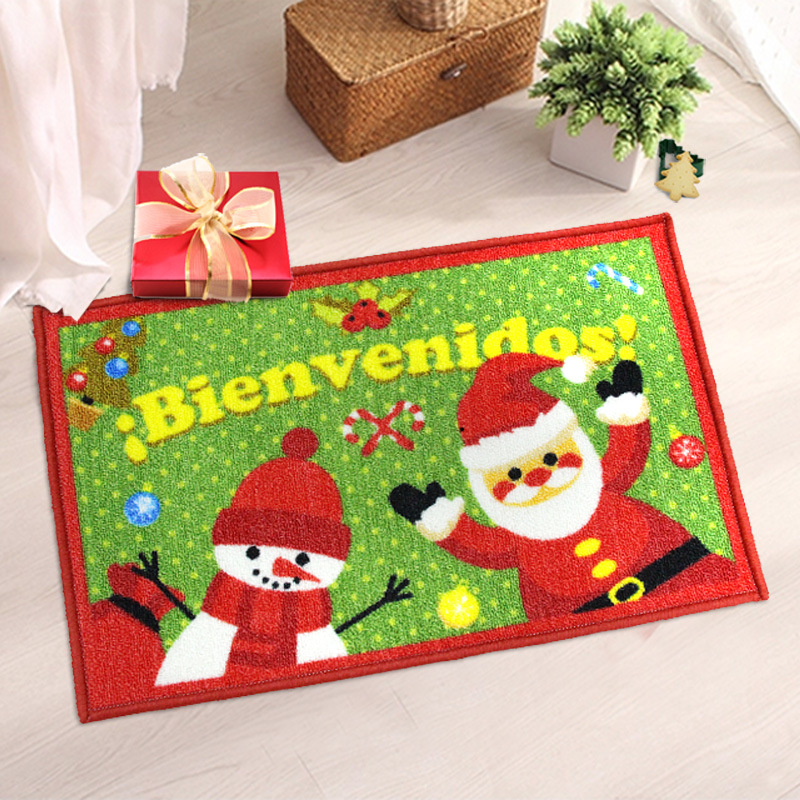Multicolor Happy Gift Creative Design Holiday Welcome Mat