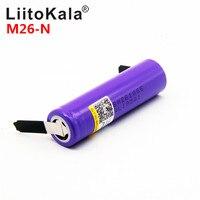 LiitoKala M26-N 18650 2500 мАч 2600 мАч 10A 2500 литий-ионный перезаряжаемые батарея мощность безопасный аккумулятор для ecig/скутер
