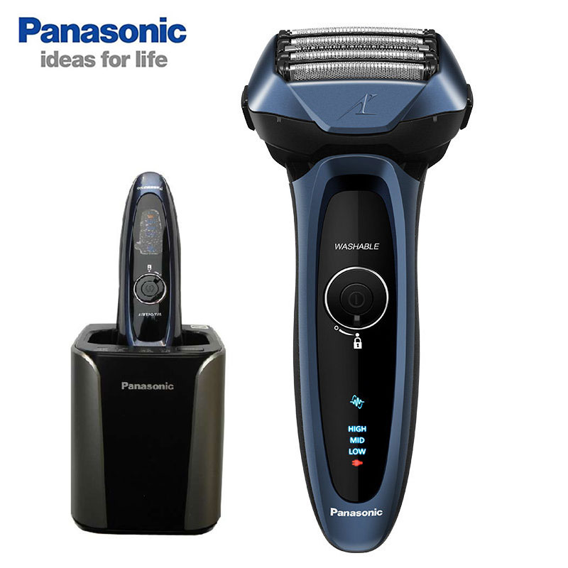 Panasonic Men's Electric Shaver Razor Smart 5 head body washable 1 hour fast charge ES-LV74-A405 Automatic Cleaning and Charging цена 2017