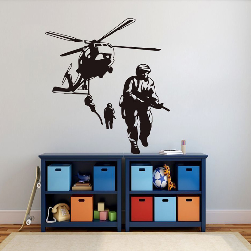 Vinyl wall stickers kid room Indian Army Removeable Wall Decal Nursery Bedroom Livingroom Wall Decor Gaming Poster ZX237