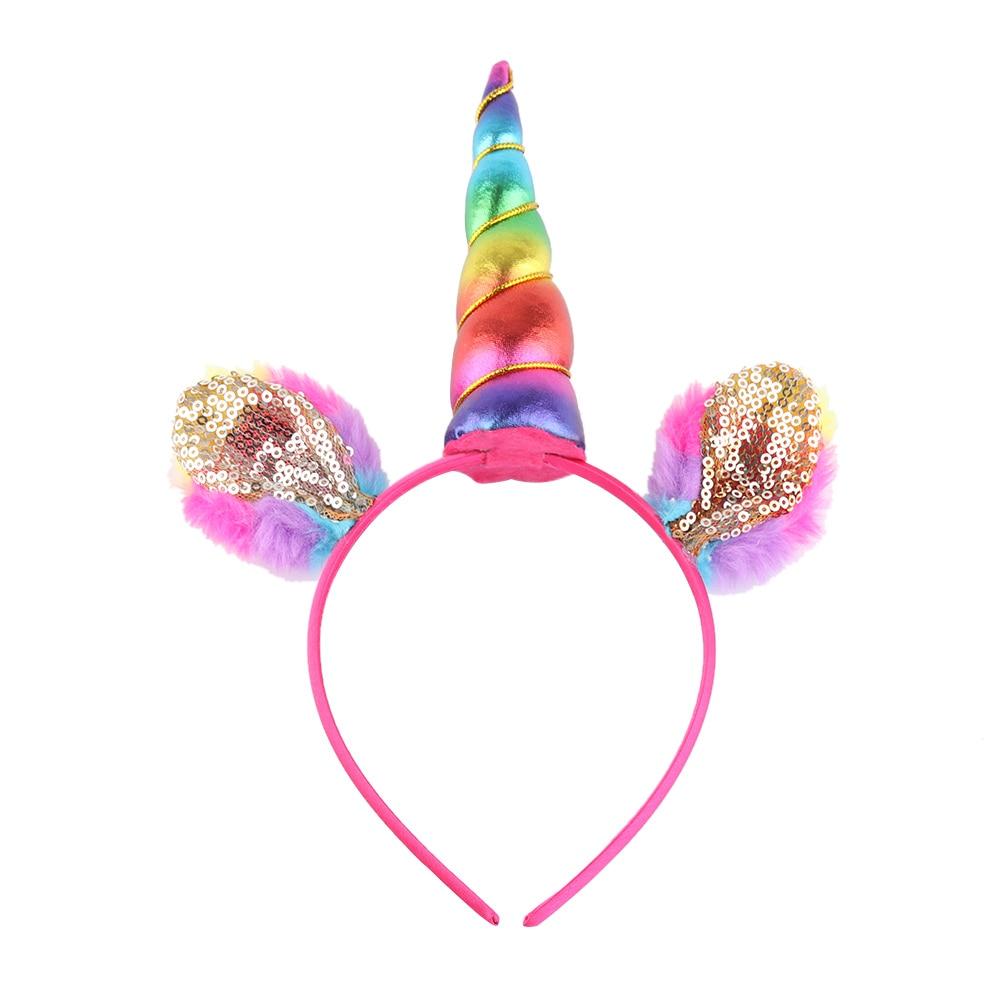 Considerate 1pc Handmade Glitter Metallic Unicorn Headband Girls Kids Diy Felt Unicorn Horn Headband Cute Party Headwear Hair Accessories Making Things Convenient For Customers