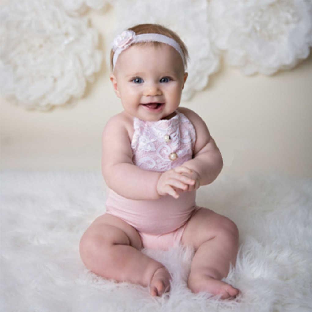 Лидер продаж, 1 предмет, Детские реквизит для фотосъемки, кружевной комбинезон с лямкой на шее для маленькой девочки, фото, наряды для фотосессии, костюм для новорожденного, комбинезон