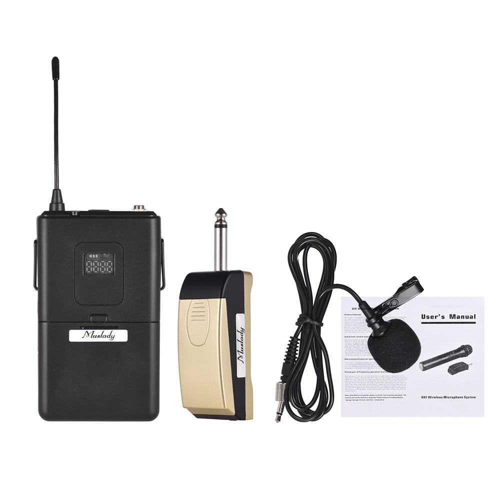 Wireless Mic System For Classroom : muslady uhf wireless microphone mic system with receiver transmitter clip on lapel lavalier ~ Vivirlamusica.com Haus und Dekorationen
