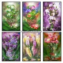 5D DIY Diamond Painting Lotus Full Square/Round Rhinestones Cross Stitch Diamond Embroidery Mosaic Crystals Needlework fullcang diy 5pcs full square diamond embroidery wolf and scenery diamond painting cross stitch 5d mosaic needlework kits d952
