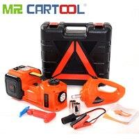 Mr Cartool 3 in 1 Electric Hydraulic Jacks 5T Car Floor Jack 12V DC with LED Light for Sedan Van Truck Car Disassembly Tool 45CM