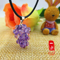 Pure natural Genuine Amethyst Stone Amethyst Pendant Pendant Necklace Wang peach promote marriage of men and women