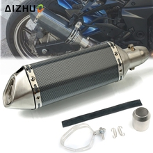 купить 36-51MM Motorcycle Exhaust Muffle Pipe Stainless Steel Exhaust Pipe FOR HONDA CBF1000 VF750S VFR750 VFR800 VTR1000F CRF1000L по цене 4748.06 рублей