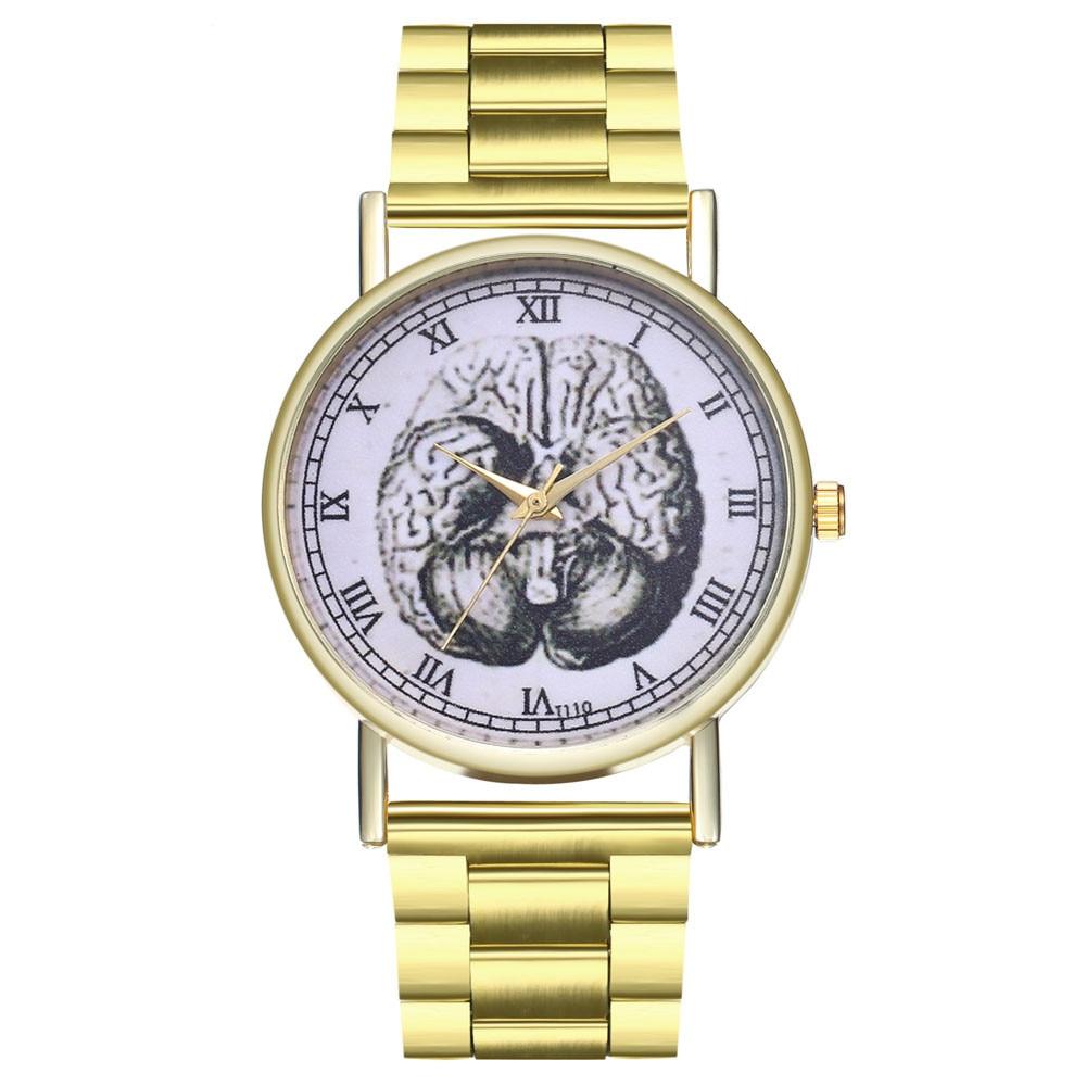 Bracelet Watch Band Quartz Stainless-Steel Gold Elegant Women Lady Luxury Dial Orologio