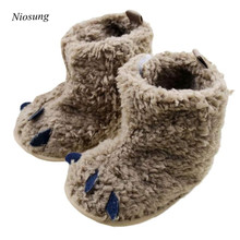 Niosung New Autumn Winter Baby Snow Boots Soft Crib Shoes Infant Toddler Paws Boots Newborn Baby Boy Girl Solid Footwear Boots v