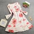 Alta Calidad Romántica Princesa de las Flores ropa de Dormir Camisones de Algodón Sueltos Mujeres Regalos
