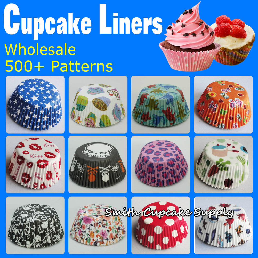 Wholesale 600 Pcs Assorted 12 Styles Cupcake Decorations Cupcake Holder Cupcake Baking Cups In