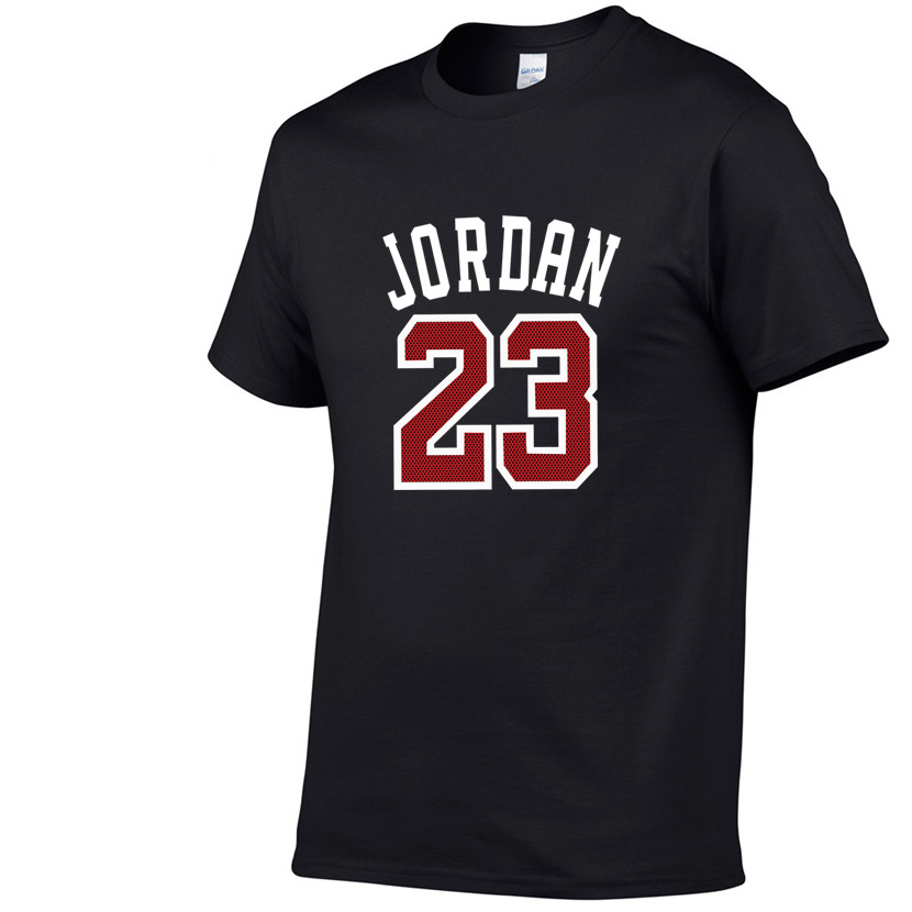2019 Summer Hot Sale New Tee Jordan 23 Print Men Swag T-Shirt Top Quality Cotton Jordan 23 Hip Hop Short Sleeve T Shirt Men