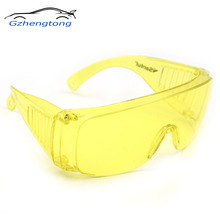 Gzhengtong 1Pcs Yellow Automotive Air Conditioning Leak Detector Glass/UV Protection Adjustable  Safety Glasses UV 400