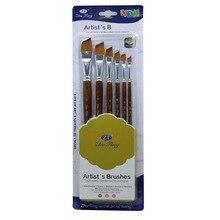 6Pcs Artist Watercolour Brushes Nylon Hair Actylic Oil Painting Paint Bursh Set
