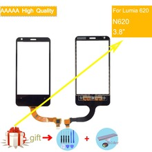 For Nokia Lumia 620 N620 Touch Screen Touch Panel Sensor Digitizer Front Glass Outer Lens Touchscreen NO LCD Black стоимость