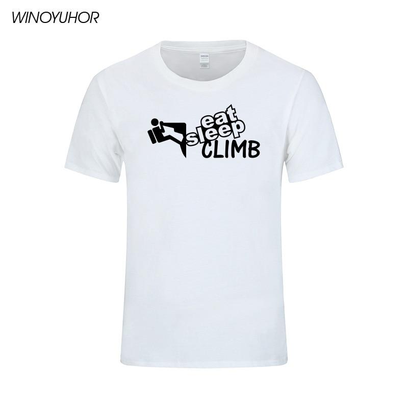 여름 Mens T Shirt 수면 등산 Print T Shirts 캐주얼 반소매 티셔츠 Funny Skills 탑스 Camisetas Masculina