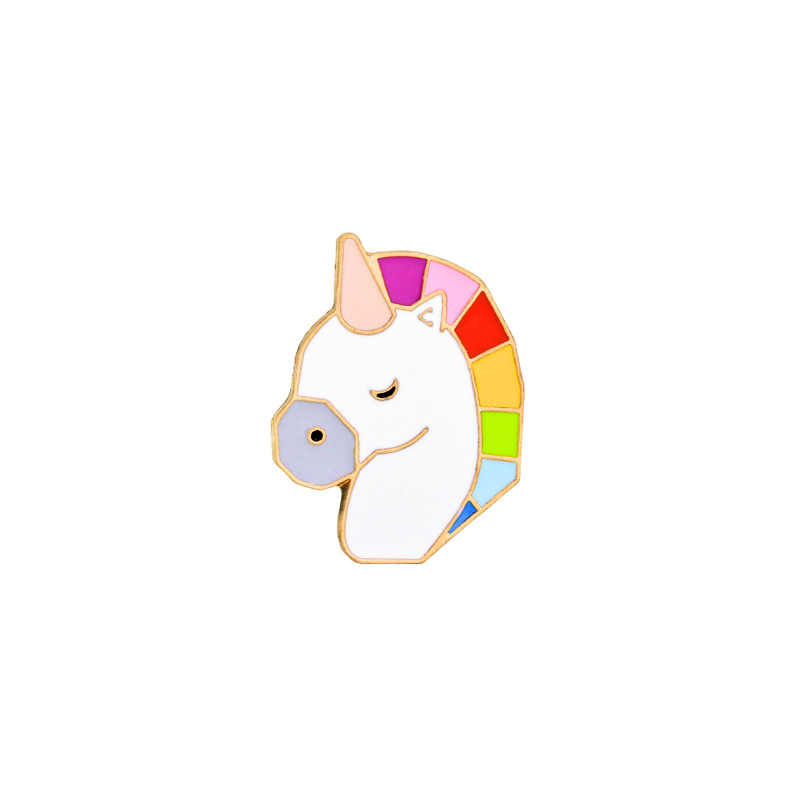 2018 ใหม่ยี่ห้อ 4 สไตล์การ์ตูนเข็มกลัด Pegasus/ม้า/ม้าหัว/เข็มกลัดเครื่องประดับหญิง Badge กระเป๋าแฟชั่นชุด