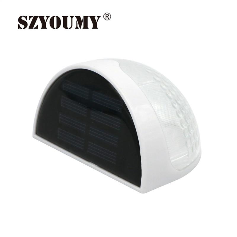 SZYOUMY 6 LED Solar Garden Light Waterproof Fence Garden Light Wall Lamp Auto ON/OFF At Night For Outdoor Lighting Garden