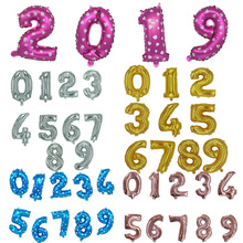 Colorful 40inch Number Foil Balloons Wedding Decorations Birthday Party Digit Inflatable Helium Baby Shower Supplies