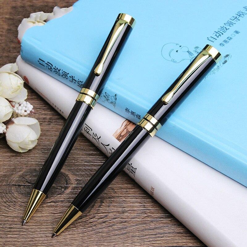 100 pcs/lot livraison gratuite cadeau stylo grossiste usine Logo personnalisé métal stylo à bille cadeau d'affaires stylo Logo métal matériel