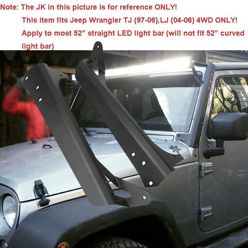 Auxmart for jeep wrangler tj 4wd 1997 2006 mount brackets 52led auxmart for jeep wrangler tj 4wd 1997 2006 mount brackets 52led light bar straight for jeep wrangler unlimited lj 4wd 2004 2006 in car light accessories aloadofball Image collections