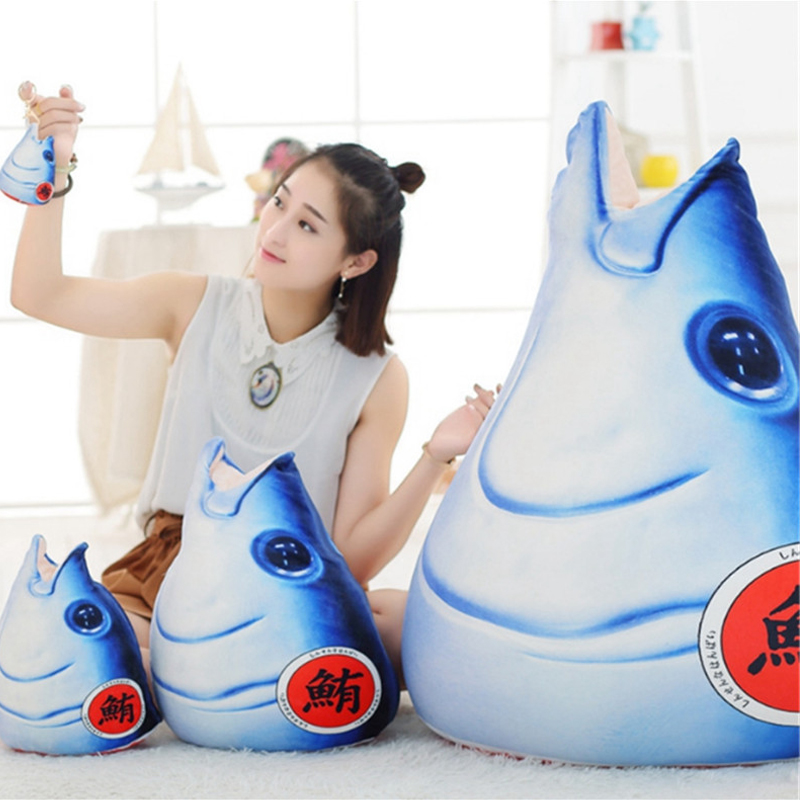 Fancytrader Big Stuffed Plush Fish Pillow Doll Pop Japanese Sushi Fish Tatami Sofa Mat Toys 80cm 31inch fancytrader biggest in the world pluch bear toys real jumbo 134 340cm huge giant plush stuffed bear 2 sizes ft90451