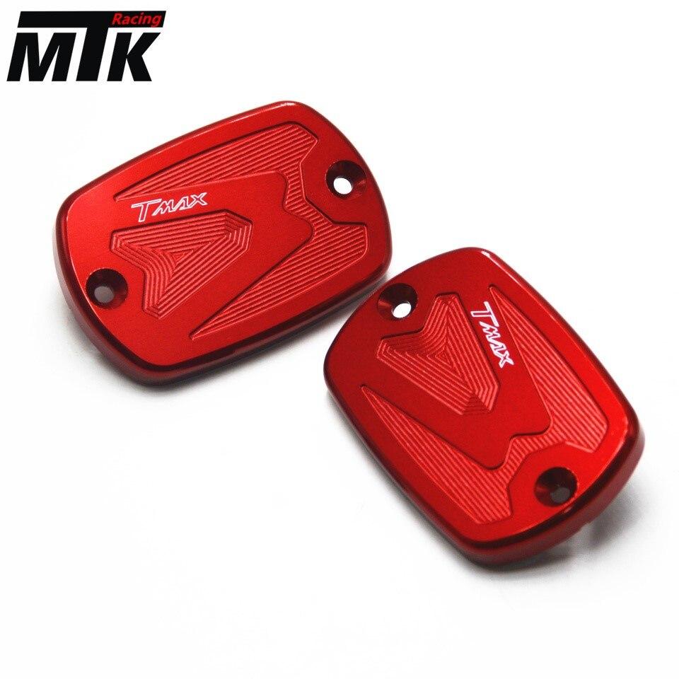 MTKRACING пара принадлежности для мотоциклов мотоцикл тормозной жидкости бак Крышка для YAMAHA тмах 500 ТМАХ 530 2012-2014 2008-2011