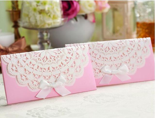 Customization 50pcs Free Shipping Wedding Invitations Cards Handmade