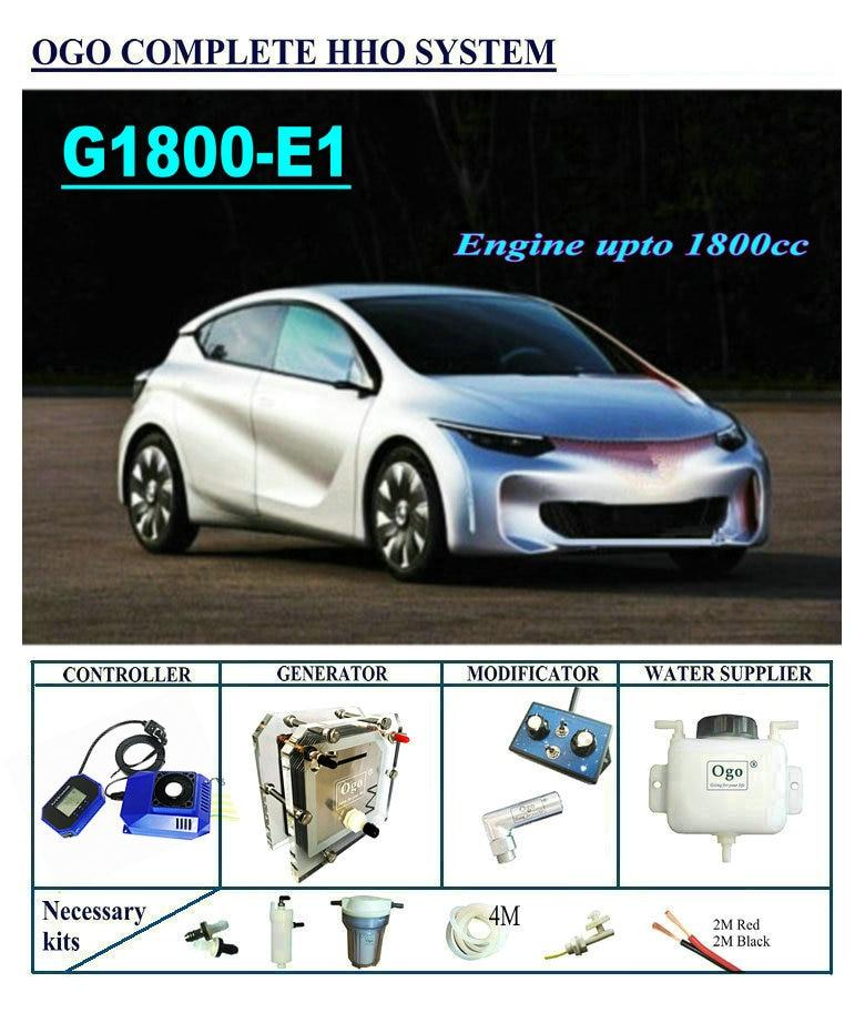 OGO Complete HHO system G1800 E1 Smart PWM MAP MAF UPTO 1800CC