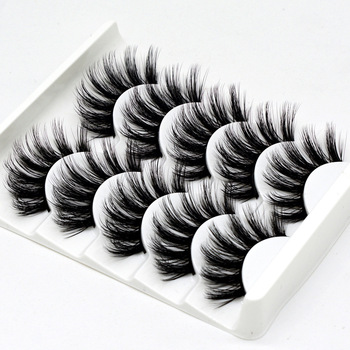 5 pairs natural false eyelashes fake lashes long makeup 3d mink lashes eyelash extension mink eyelashes for beauty DOCOCER
