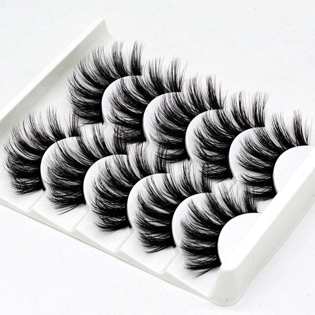 5 pairs natural false eyelashes fake lashes long makeup 3d mink lashes eyelash extension mink eyelashes for beauty DOCOCER