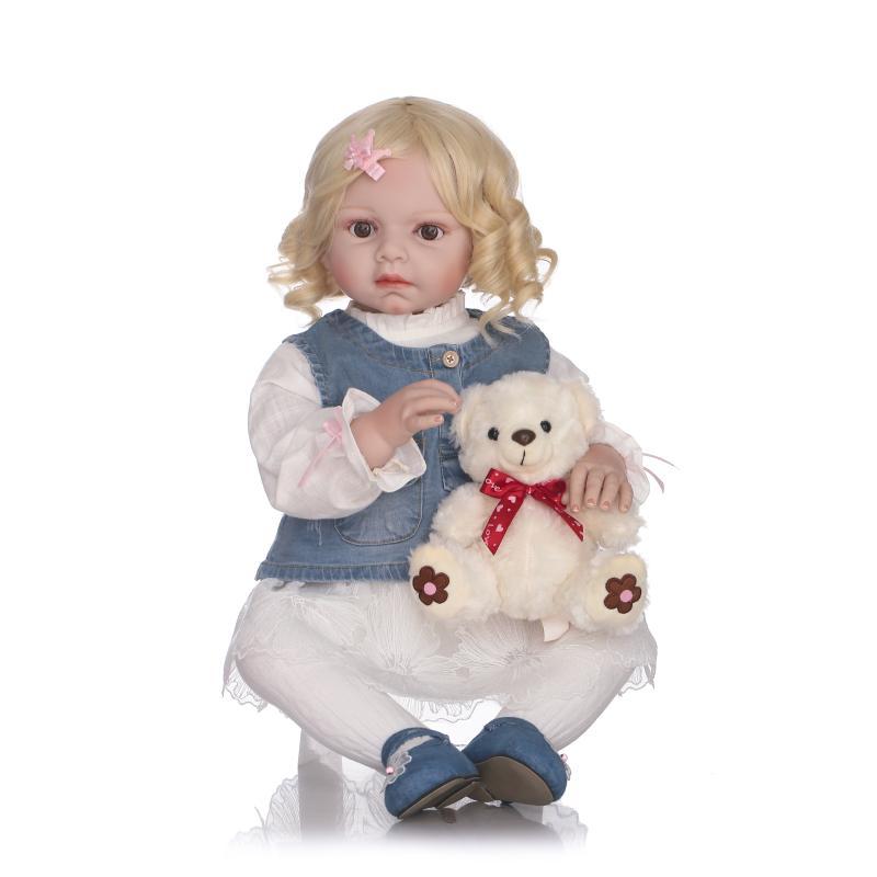 Bebe NPK 70 cm réaliste Silicone Reborn bébé poupée cheveux blonds grand reborn bambin fille poupées magasin de vêtements modèle bonecas