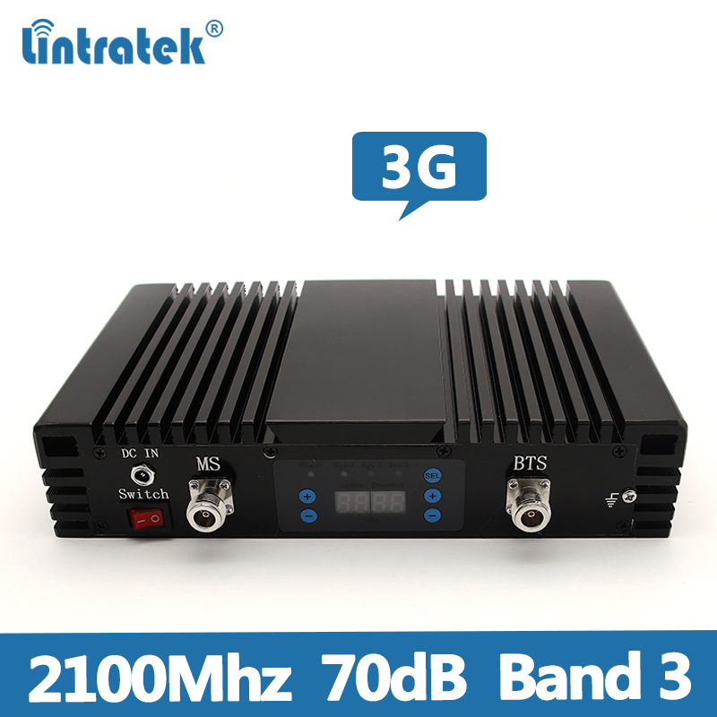 Lintratek 3G Repeater 2100Mhz Signal Booster 3G UMTS Band 1 Signal Repeater 3G 2100Mhz Mobile Phone Amplifier 70dB AGC MGC @8