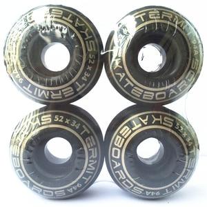 Image 4 - 4 Cái/bộ USA Ván Trượt Bánh Xe 50 54 Mm Ván Trượt Bánh Xe Nguyên Tố Bánh Xe Đôi Đính Đá Sàn Tàu PU Ruedas Patines nhựa Rodas