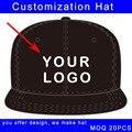 Настройка печати логотипа плоский козырек хип-хоп стиль sport cap значительные назад пользовательские шляпу