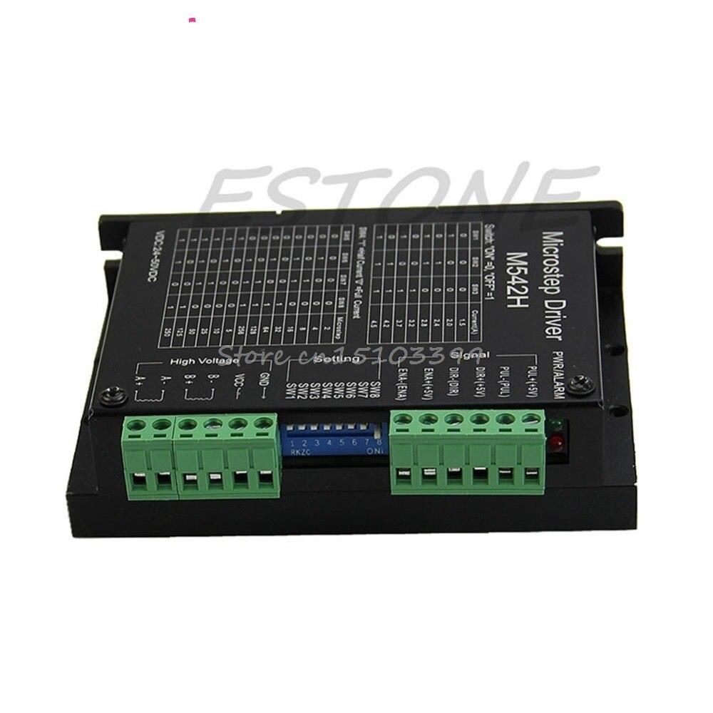 CNC Micro-Stepping Stepper Motor Driver M542/DM542 Bi-polar 2Phase 4.5A Motor Controller Switch G08 Drop ship