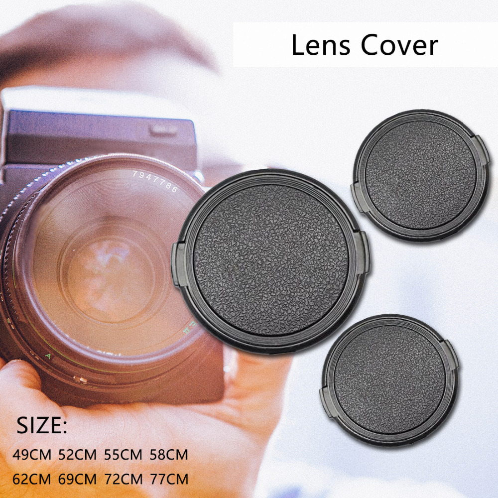 Centechia Anti-lost 49 52 55 58 62 67 72 77 mm Camera Lens Cap Protection Cover Lens Front Cap for Canon Nikon Pentax DSLR Lens