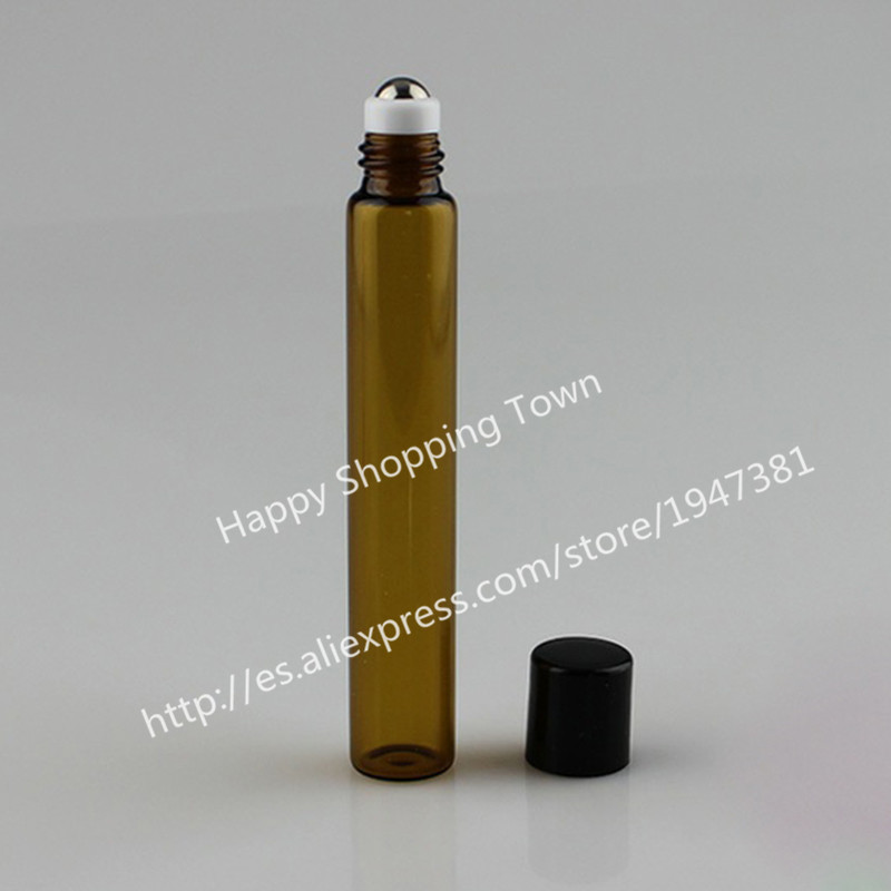 500pcs 10ml amber roll on roller bottles for essential oils roll-on refillable perfume bottle deodorant containers